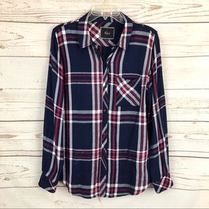 Rails Patriot Navy Red Hunter Plaid Flannel Shirt